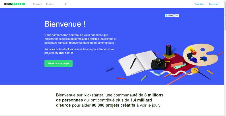 Lancement Kickstarter France